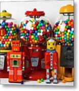 Bots And Bubblegum Machines Metal Print