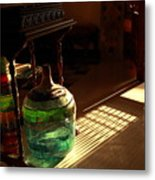 Bottle And Light Metal Print