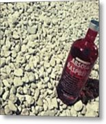 Bottle And The Beach  Metal Print