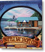 Bottle Bay Yacht Club Metal Print