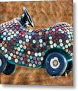 Bottle Cap Buggy Metal Print