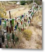 Bottle Fence. Metal Print