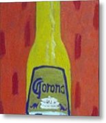 Bottle Of Corona Light Metal Print