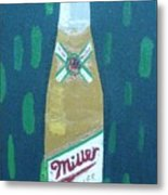 Bottle Of Miller Beer Metal Print