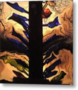 Bottle Tree Sunrise Metal Print