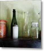 Bottles And A Coffee Can Metal Print
