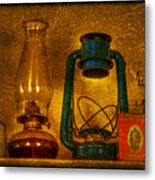 Bottles And Lamps Metal Print