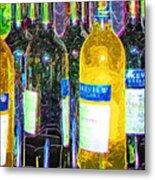 Bottles Of Wine Metal Print
