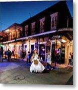 Boubon Bride - New Orleans Metal Print