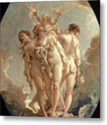 Boucher: Three Graces, 18 C Metal Print