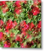 Bougainvillea Repeating Pattern Abstract I Metal Print