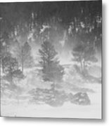 Boulder Canyon And Nederland Winter Landscape Metal Print