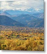 Boulder Colorado Autumn Scenic View Metal Print