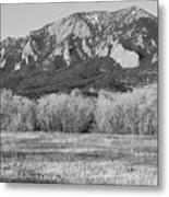 Boulder Colorado Flatiron View From Jay Rd Bw Metal Print