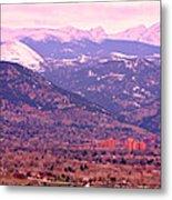 Boulder Colorado Sunrise Panorama Metal Print