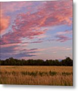 Boulder County Colorado Country Sunset Metal Print