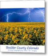 Boulder  County Colorado Metal Print