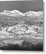 Boulder County Continental Divide Panorama Bw Metal Print