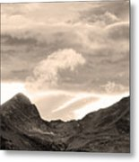 Boulder County Indian Peaks Sepia Image Metal Print by James BO  Insogna