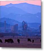Boulder County Industry Meets Country Metal Print