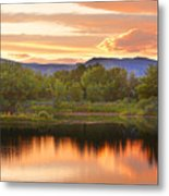 Boulder County Lake Sunset Landscape 06.26.2010 Metal Print