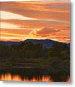 Boulder County Lake Sunset Vertical Image 06.26.2010 Metal Print