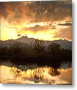 Boulder County Sunset Reflection Metal Print