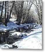 Boulder Creek After A Snowstorm Metal Print