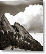 Large Cloud Over Flatirons Metal Print