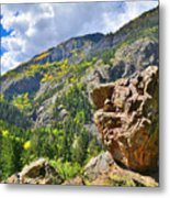 Boulder In Ouray Canyon Metal Print