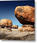 Boulder On Solid Rock Metal Print