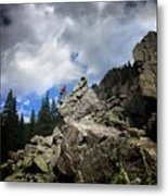 Bouldering On The Flint Creek Trail - Weminuche Wilderness Metal Print