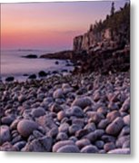 Boulders At Dawn - Vertical Metal Print