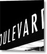 Boulevard Lights Up The Night Metal Print by Angie Rayfield