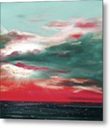 Bound Of Glory - Panoramic Sunset  Metal Print