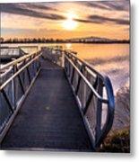 Bountiful Lake Pier Metal Print