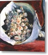 Bouquet In A Theater Box Metal Print