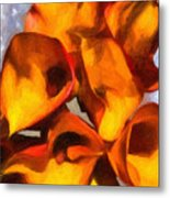 Bouquet Of Calla Lilies Metal Print