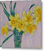 Bouquet Of Yellow Daffodils Metal Print