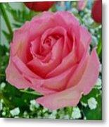 Bouquet Rose Metal Print
