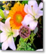 Bouquet Softly There Metal Print