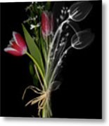 Bouquet X-ray Metal Print