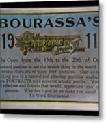 Bourassa's Photographic Studio Metal Print