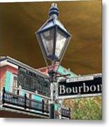 Bourbon And St. Phillip Streets Metal Print