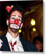 Bourbon Street Clown Mime Metal Print