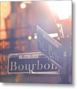 Bourbon Street New Orleans La Metal Print