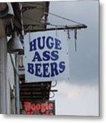 Bourbon Street Signs Metal Print