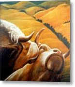 Bovine Bliss Metal Print