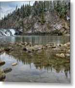 Bow Falls On A Spring Like Day Metal Print