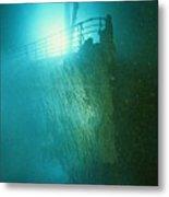 Bow Railing Of R.m.s. Titanic Metal Print by Emory Kristof